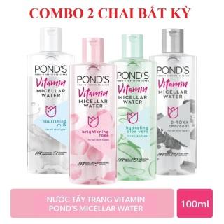 COMBO 2 CHAI, Nước tẩy trang sạch da giảm nhờn tẩy tế bào chêt, Nước tẩy trang vitamin 100ML CHAI thumbnail