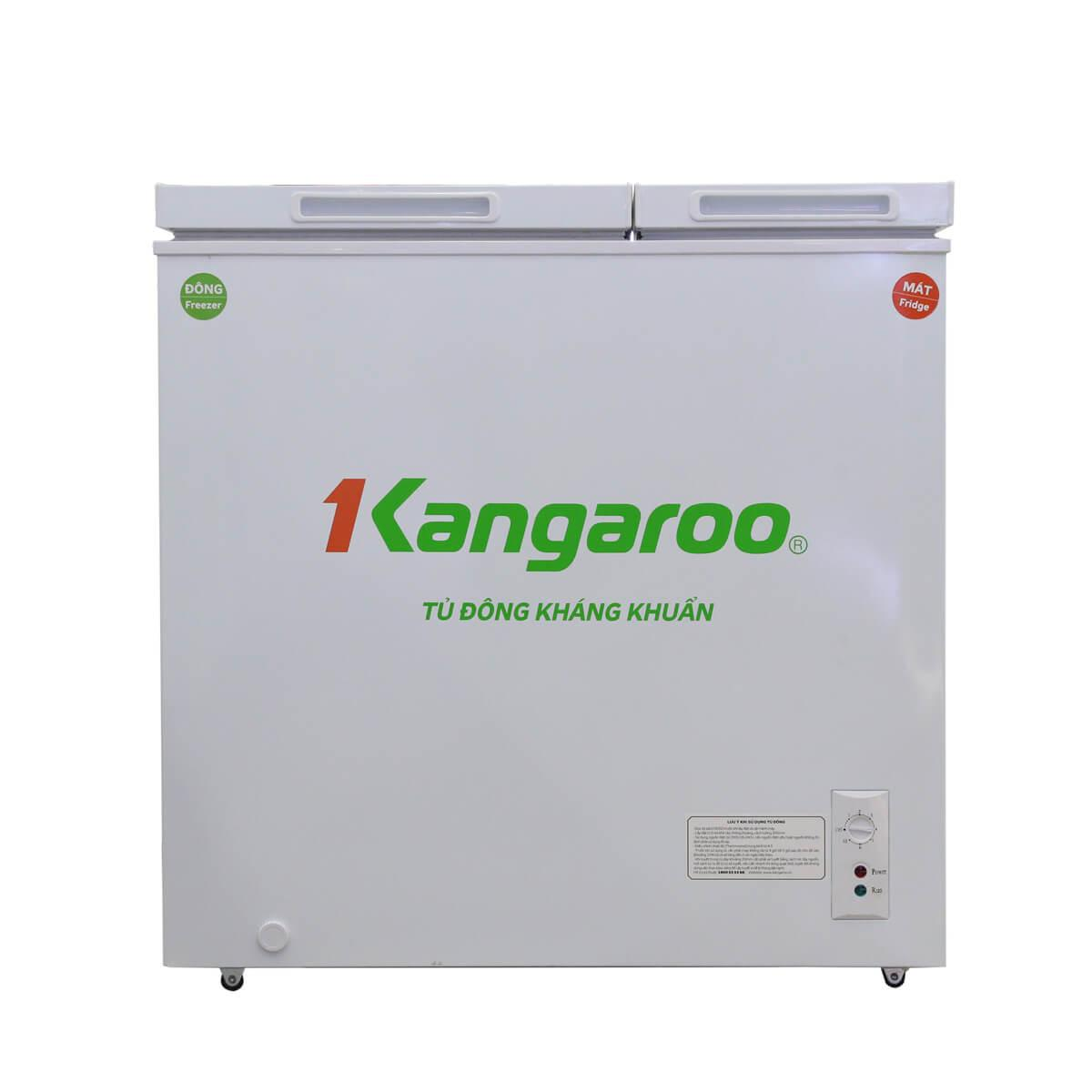 Tủ đông kháng khuẩn Kangaroo KG236C2 236L 2 ngăn, 2 cánh