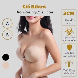 Áo dán nâng ngực silicon [Tặng dây trong] tạo khe có dây trong suốt sau lưng. Miếng lót nâng ngực nữ siêu dính chống nước thumbnail
