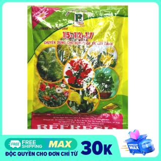Phân bón NPK 3 màu kích thích cây phát triển chuyên dùng cho hoa, cây cảnh Refresh Gold Super 200gr thumbnail