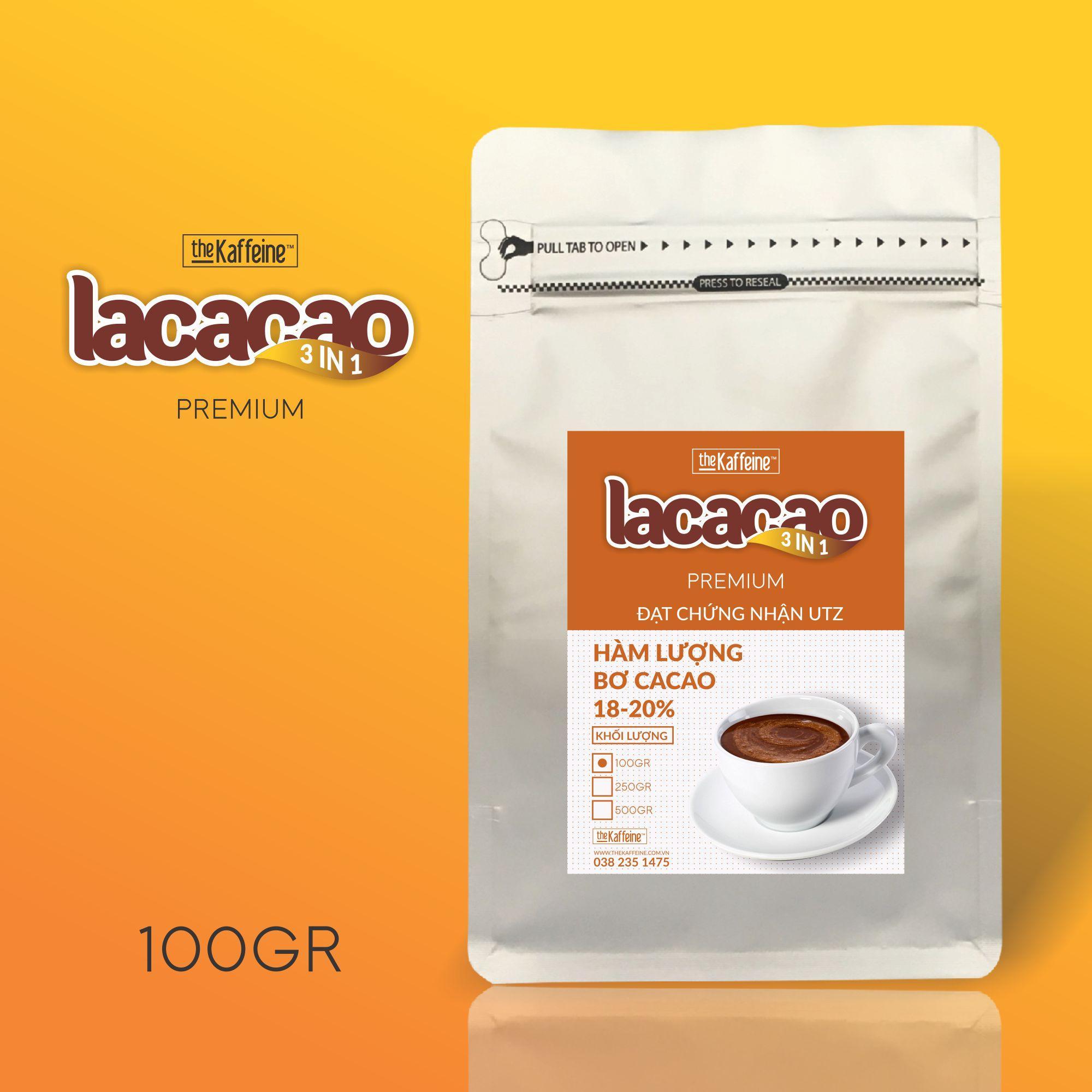Cacao Sữa LACACAO PREMIUM 3in1 100g - The Kaffeine