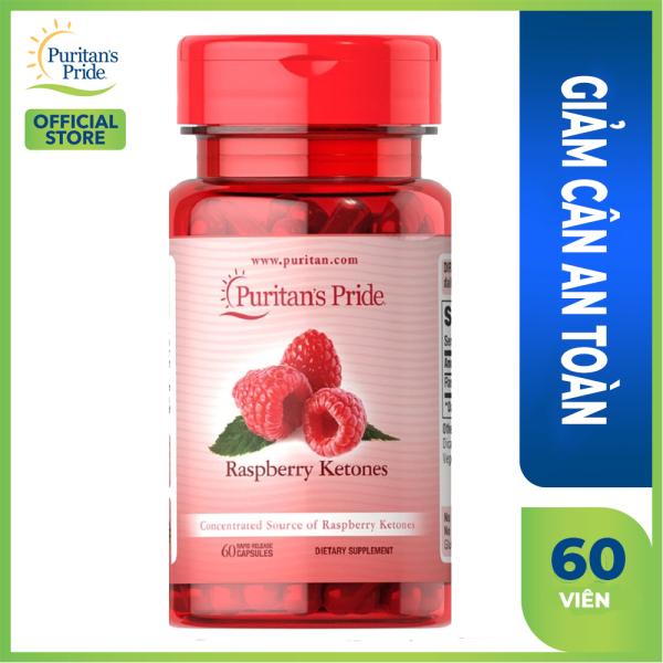 Viên uống giảm cân an toàn Raspberry Ketones 100mg hiệu quả gấp nhiều lần giảm cân thảo mộc Puritans Pride   lọ 60 viên