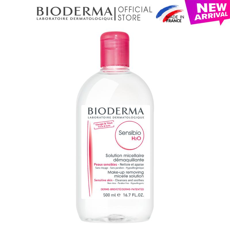 Dung dịch làm sạch và tẩy trang micellar cho da thường và da nhạy cảm Bioderma Sensibio H2O - 500ml nhập khẩu