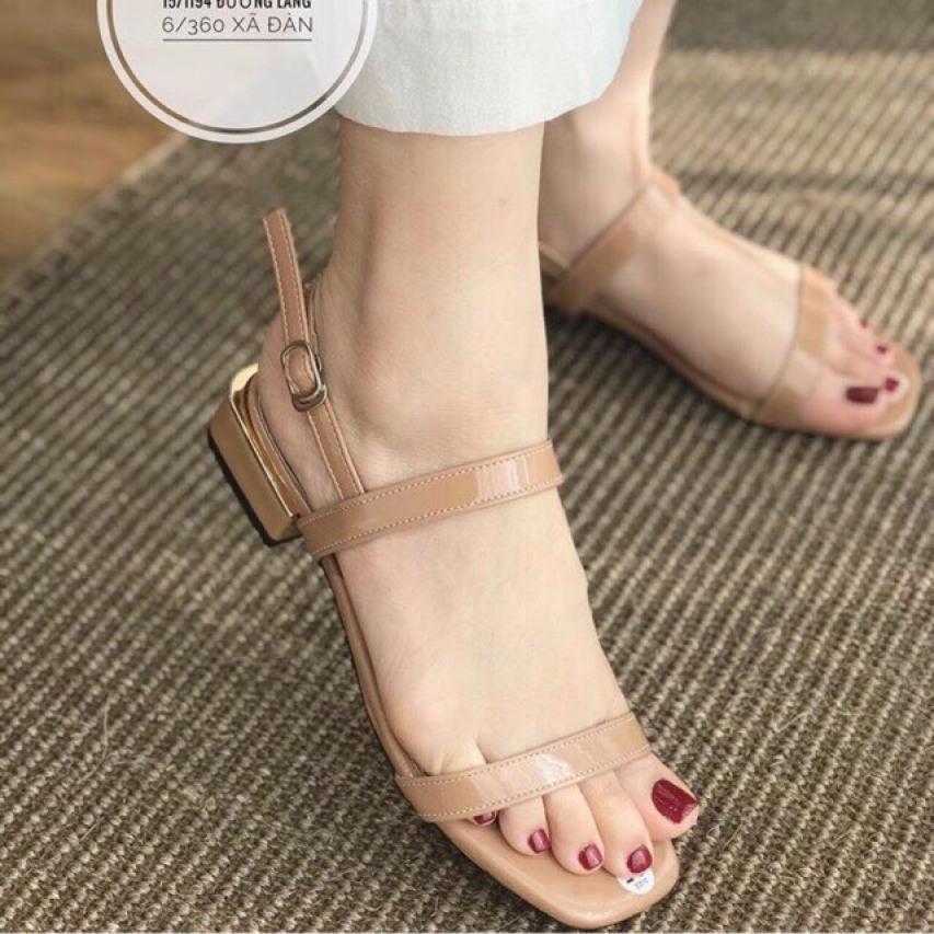 sandal tiểu thư nữ quai mảnh gót 2cm cực xinh giá rẻ