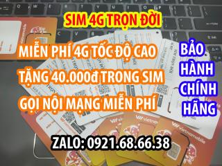 Sim 4G Trọn Đời Vietnamobile, Sim Tốc Độ Cao Giá Rẻ - Khuyến Mãi Hấp Dẫn 180Gb Tháng - Tặng 40.000đ Tài Khoản Chính - Nghe gọi nội mạng miễn phí. thumbnail