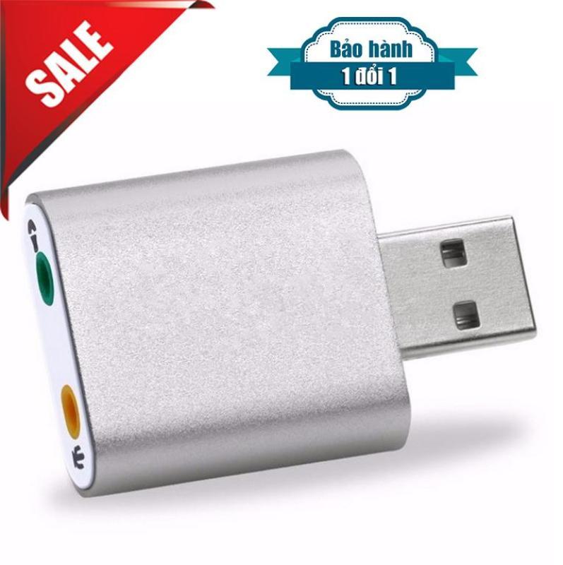 Bảng giá USB Sound USB âm thanh 7.1 hiệu ứng 3D vỏ nhôm cao cấp Phong Vũ