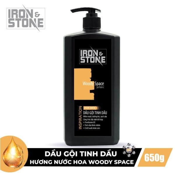 Dầu Gội Tinh Dầu IRON & STONE Innovation Hương Woody Space 650g Z0202 - Dành Cho Nam giá rẻ