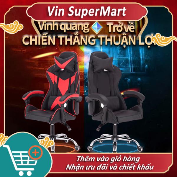 Ghế chơi game Ghế tựa lưng có thể nâng lên hạ xuống Ghế chơi game Thủ Ghế văn phòng ngồi thoải mái Ghế có thể nằm gia dụng Vin SuperMart giá rẻ