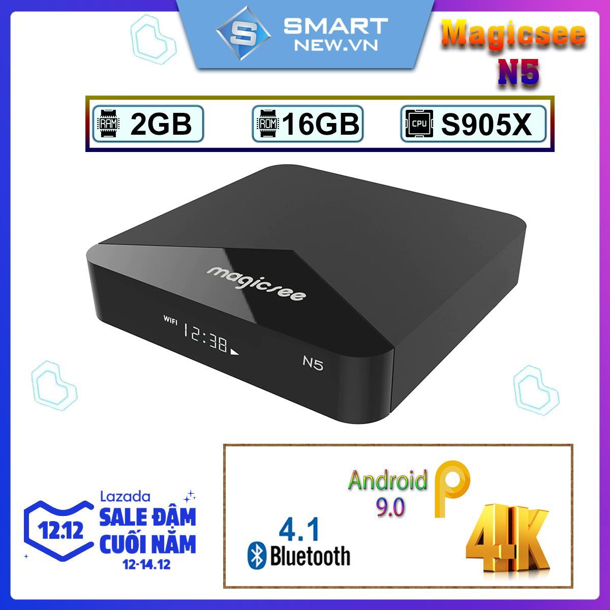 Lazada Ưu Đãi Khi Mua [Có Video] Android Tivi Box Magicsee N5  - Ram 2GB Rom 16GB Single Wifi - Có Bản Rom ATV - Bảo Hành 12 Tháng