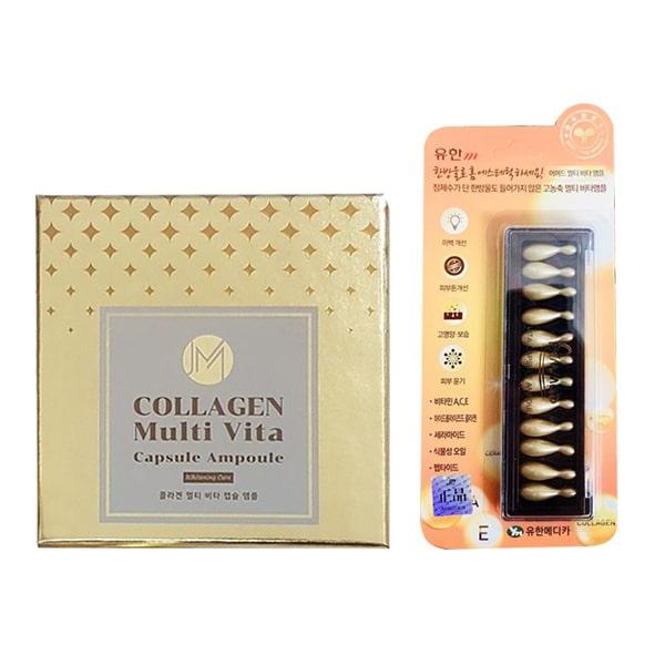 Viên Collagen tươi Ammud Multi Vita Ampoule Hàn Quốc - Giảm nếp nhăn, chống lão hóa