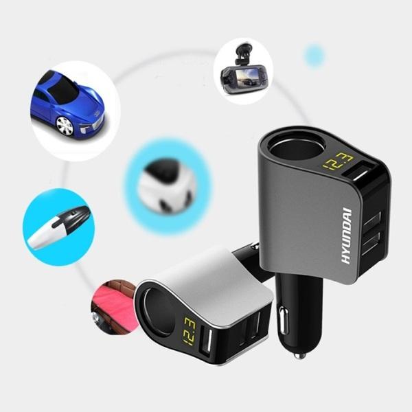 Bộ chia nguồn 1 tẩu sạc và 3 cổng USB đa năng trên ô tô xe hơi