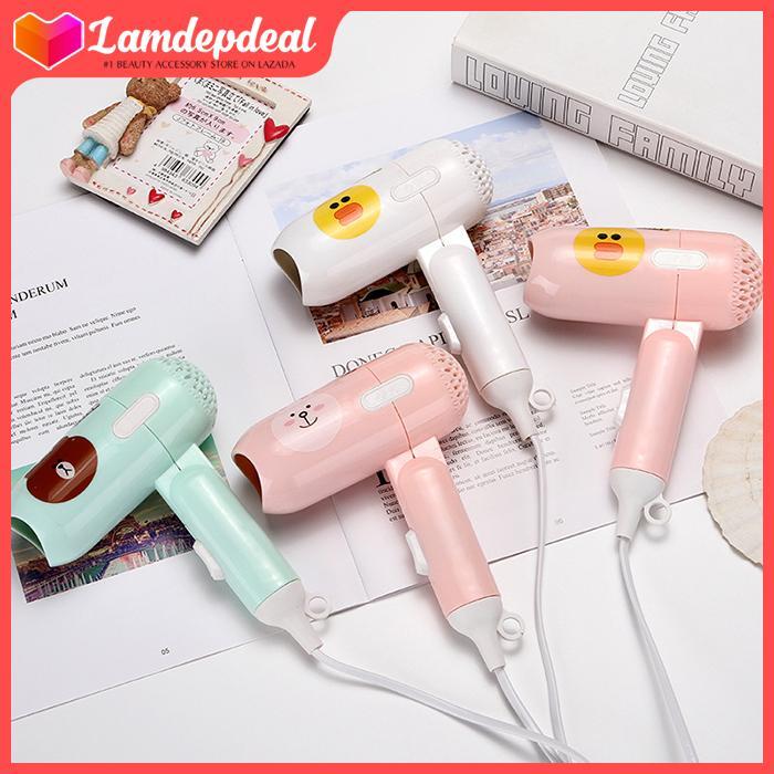 Lamdepdeal - Máy sấy tóc Kemier Mini - Máy sấy tóc du lịch, máy sấy tóc giá rẻ - Dụng cụ làm tóc. cao cấp