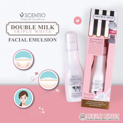 [Mua 1 Tặng 1] Sữa dưỡng trắng da mặt Beauty Buffet Scentio Double Milk Triple White Facial Emulsion chiết xuất từ sữa bò - mini size 5ml