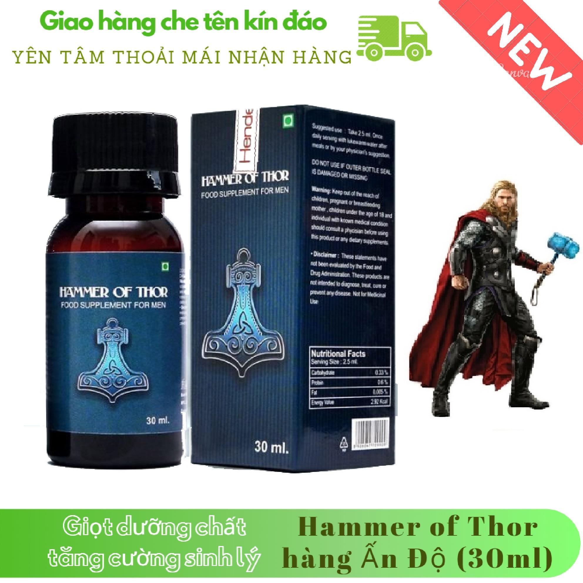 Giọt dưỡng chất_Hammer-Of-Thor tăng cường_sinh lý Nam mạnh mẽ (chai 30ml) chính hãng