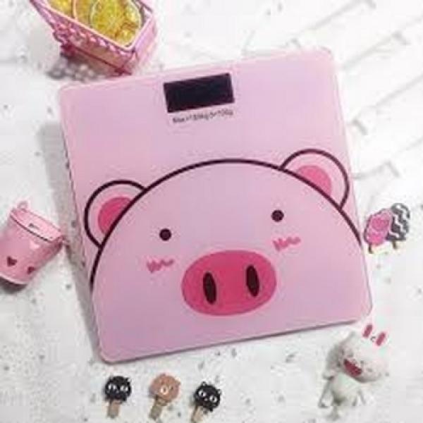 Cân điện tử sức khỏe hình lợn hồng 3in1