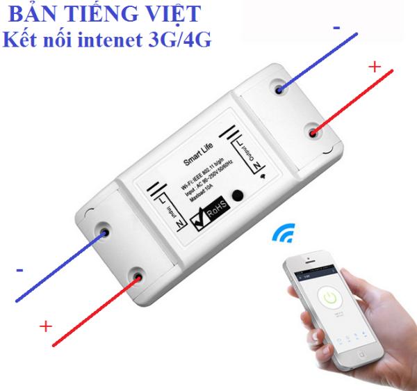 Công tắc điều khiển từ xa kết nối điện thoại wifi 3G-4G Smart Life - Tiếng Việt - Smart-Life
