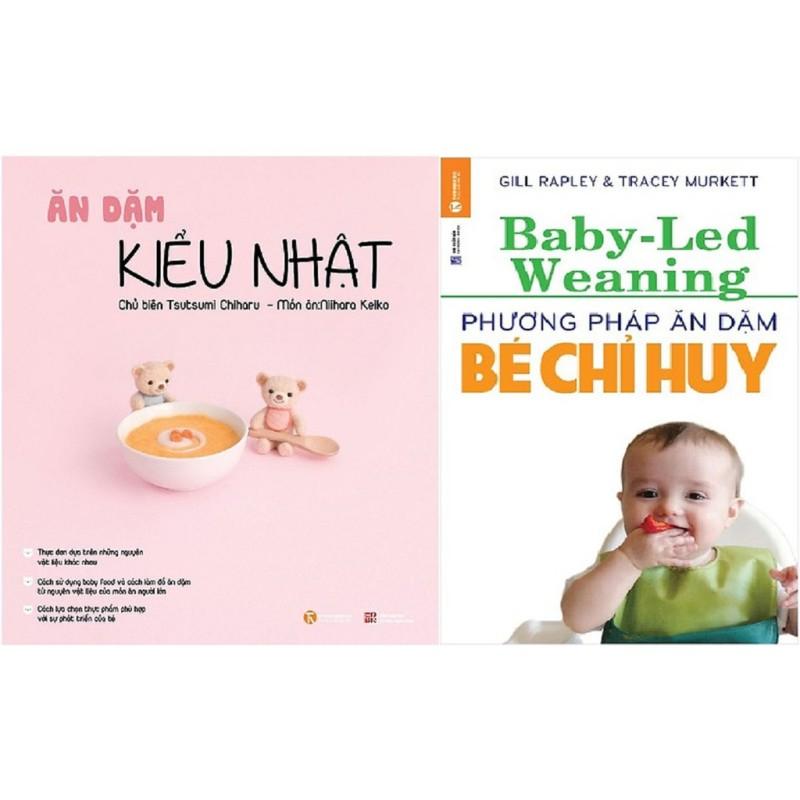 nguyetlinhbook Sách - Combo 2 Cuốn Ăn Dặm Kiểu Nhật, Phương Pháp Ăn Dặm Bé Chỉ Huy (nguyetlinhbooK)