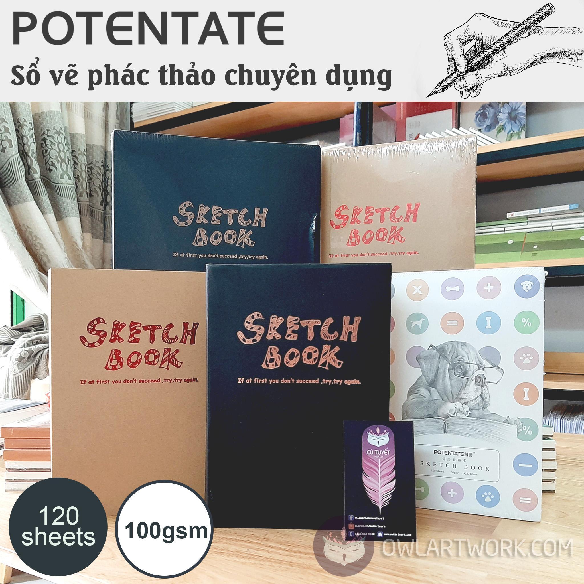 Mua Sổ Vẽ Phác Thảo Potentate A5 100gsm – Sketchbook