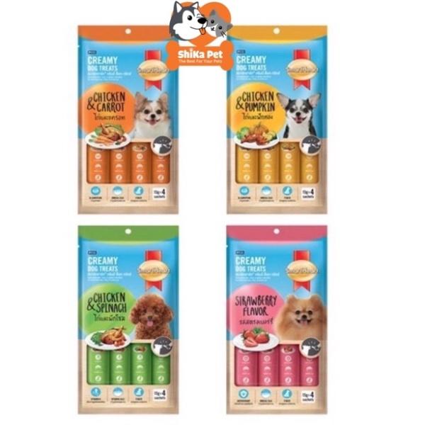 [Mã 208Fmcgsale Giảm 8% Đơn 500K] Súp Thưởng Smartheart Creamy Dog Treats Cho Chó 15G(01 Thanh)
