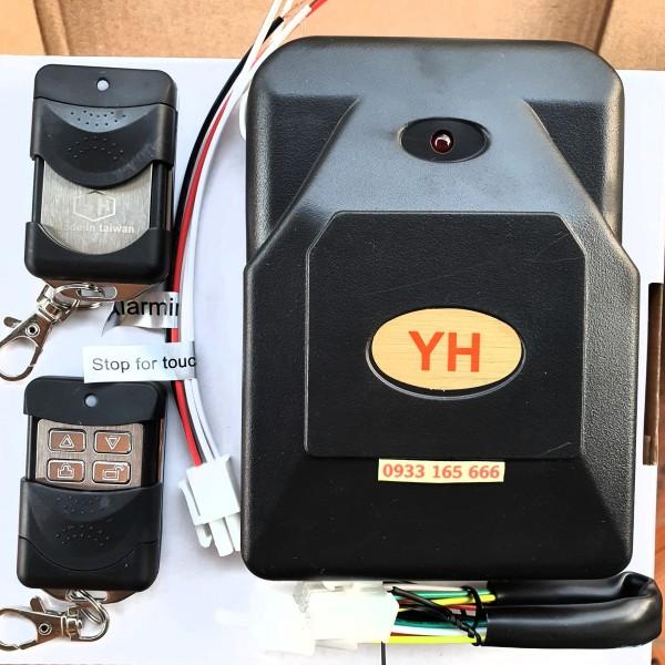Bộ hộp điều khiển cửa cuốn tự động YH 8 mã gạt 433Mhz cao cấp ( 1hộp nhận + 2tay điều khiển + 1cáp kết nối + 1giắc tự ngắt/còi)