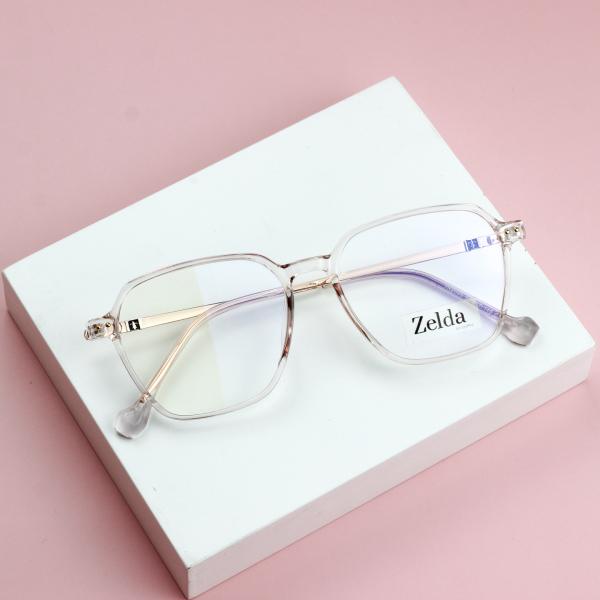 Giá bán [LẮP SẴN CẬN]Gọng kính cận nữ, kính mắt vuông nhựa dẻo Z2005