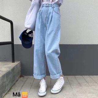 Quần baggy jean, quần bò chất vải cao cấp chất lượng thời trang trẻ trung lưng cao 1990STORE MS12 thumbnail