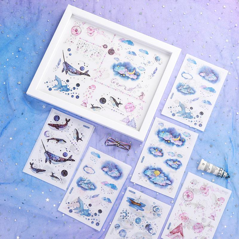Mã Giảm Giá tại Lazada cho Sticker (hình Dán) Set 6 Tấm Nhiều Chủ đề Trang Trí Sổ, Album, Nhật Ký, Lưu Bút, Góc Học Tập