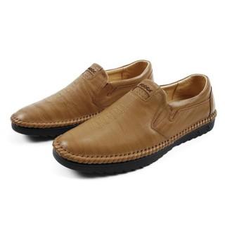 [Bảo hành 1 năm] Giày lười da cao cấp, đế cao su khâu chắc chắn thumbnail