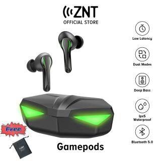 Tai nghe chơi game ZNT GamePods Bluetooth 5.0 TWS, Âm trầm tuyệt vời, Chế độ chơi game nghe nhạc, Tích hợp Micro và đèn LED thumbnail