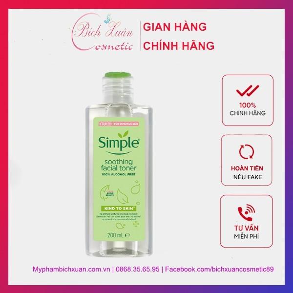 Nước Hoa Hồng Cân Bằng Da Dịu Nhẹ Simple Kind To Skin Soothing Facial Toner 200ml