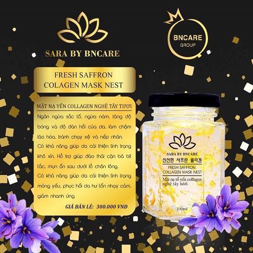 Mặt Nạ Yến Tươi Collagen từ Nhụy Hoa Nghệ Tây - Hủ/100gr cao cấp