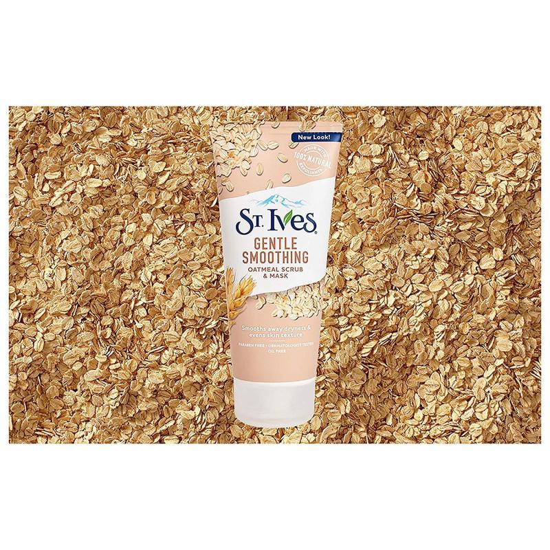 Sửa rửa mặt mịn da St. Ives Gentle Smoothing Face Scrub and Mask Oatmeal 170g (Mỹ)