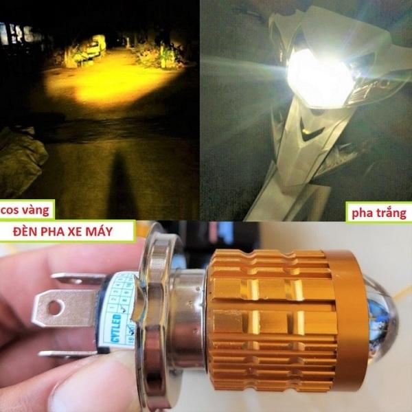 Đèn Pha Led Bi Cầu 2 Mầu Cos Vàng Pha Trắng Siêu Sáng