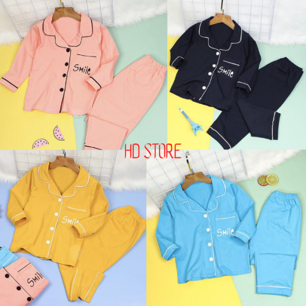Giá bán đồ bộ pijama cho bé yêu chất kate lụa mềm mịn mặc thoải mãi chuẩn shop H0118