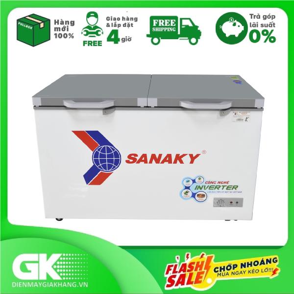 [Nhập ELAPR21 giảm 10% tối đa 200k đơn từ 99k]Tủ đông Sanaky VH-3699W2K - 2 NGĂN 2 CỬA 1 ĐÔNG 1 MÁT270 LÍT