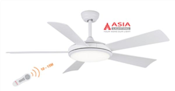 [Chính hãng] - Quạt trần 5 cánh kèm đèn chiếu sáng từ xa cao cấp QT01 Asialighting