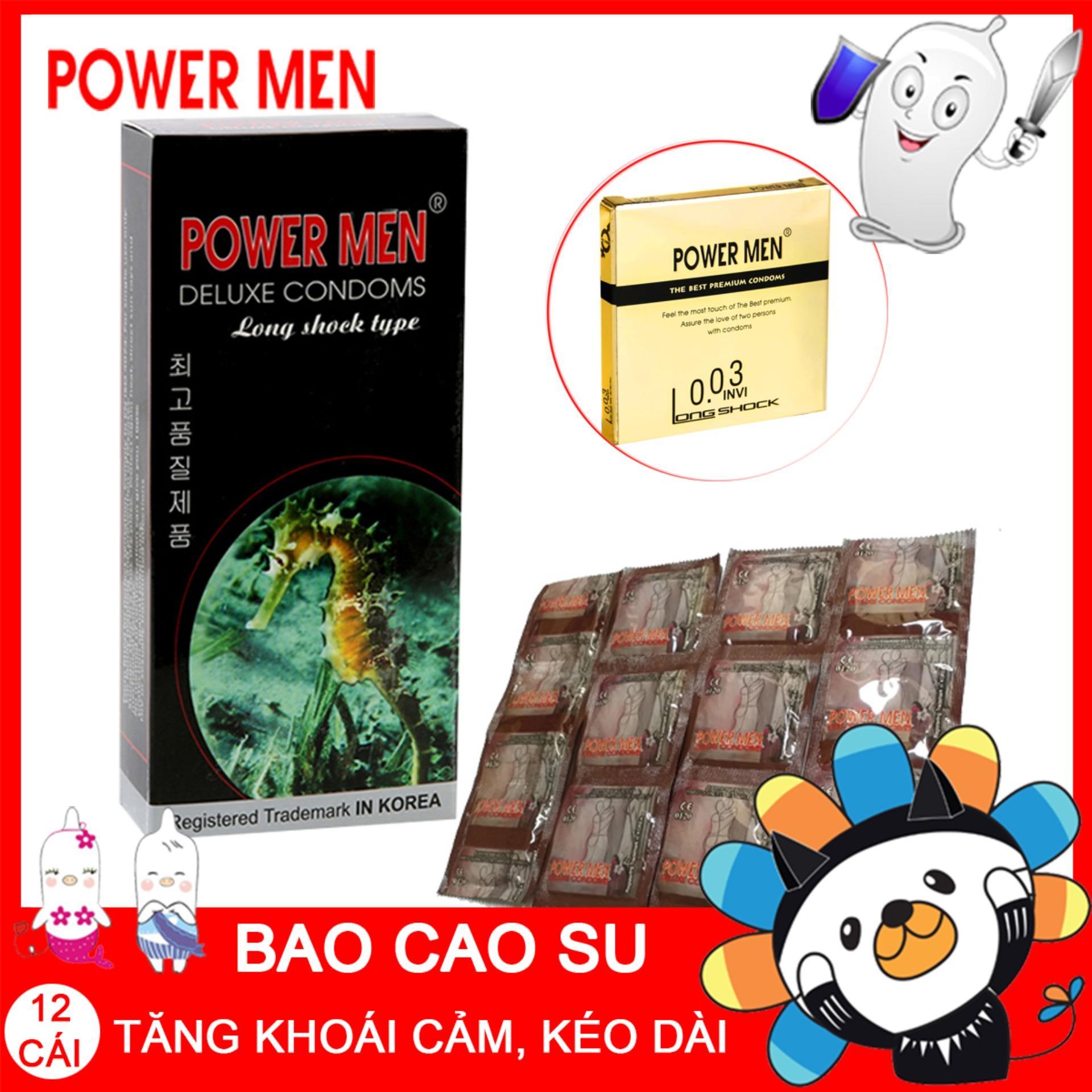 Bộ 12 bao cao su Powermen Trị xuất tinh sớm