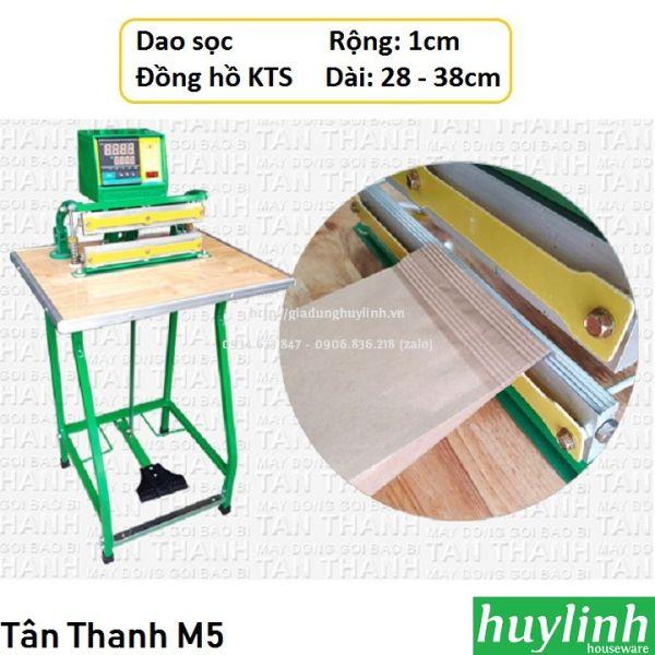 [HCM]Máy hàn miệng túi dao sọc Tân Thanh M5-KTS - Có đồng hồ