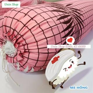 (XẢ HÀNG) Vỏ gối ôm poly cotton mẫu LÁ ME HỒNG áo gối dài nhiều mẫu đẹp, bao bọc gối ôm người lớn 30x100cm có dây dù rút kéo thumbnail