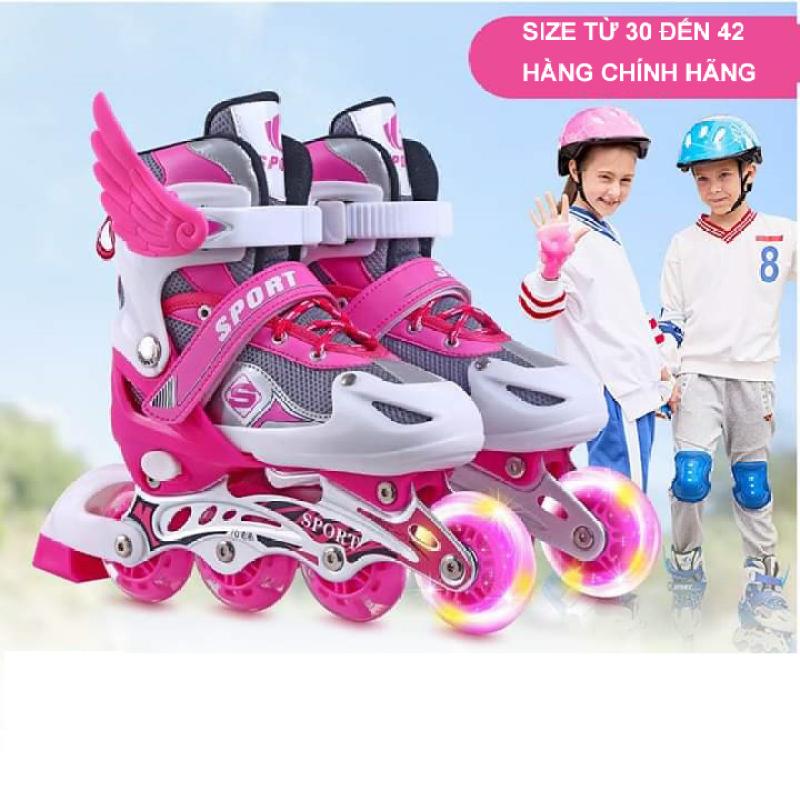 Phân phối Giày trượt patin  Abec 7 đèn trước Sport bánh phát sáng cao cấp - giày patin trẻ em người lớn - Mẫu Mới 2020