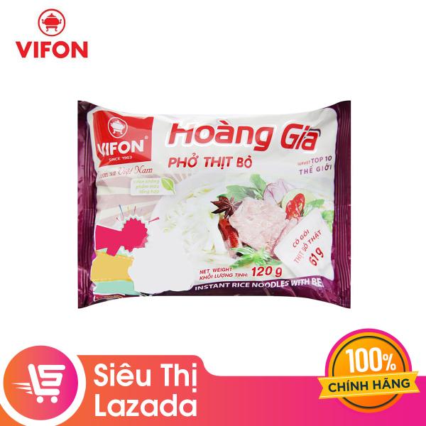[Thanh lý] Phở thịt bò Hoàng Gia thùng 120g hương vị ẩm thực Việt, an toàn, tiện lợi cho mọi bữa ăn