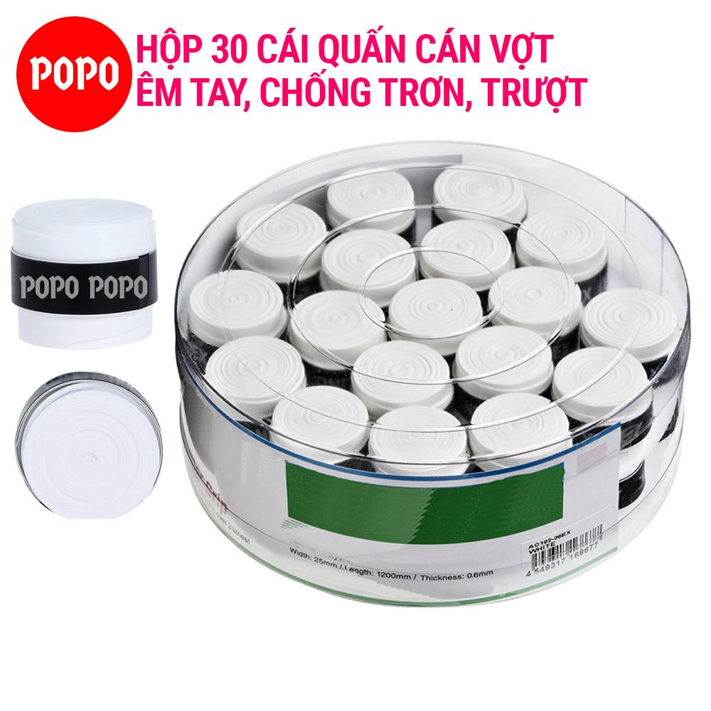 Quấn cán Tennis Cầu lông Hộp 30 cái mềm mại độ bền cao - POPO Collection