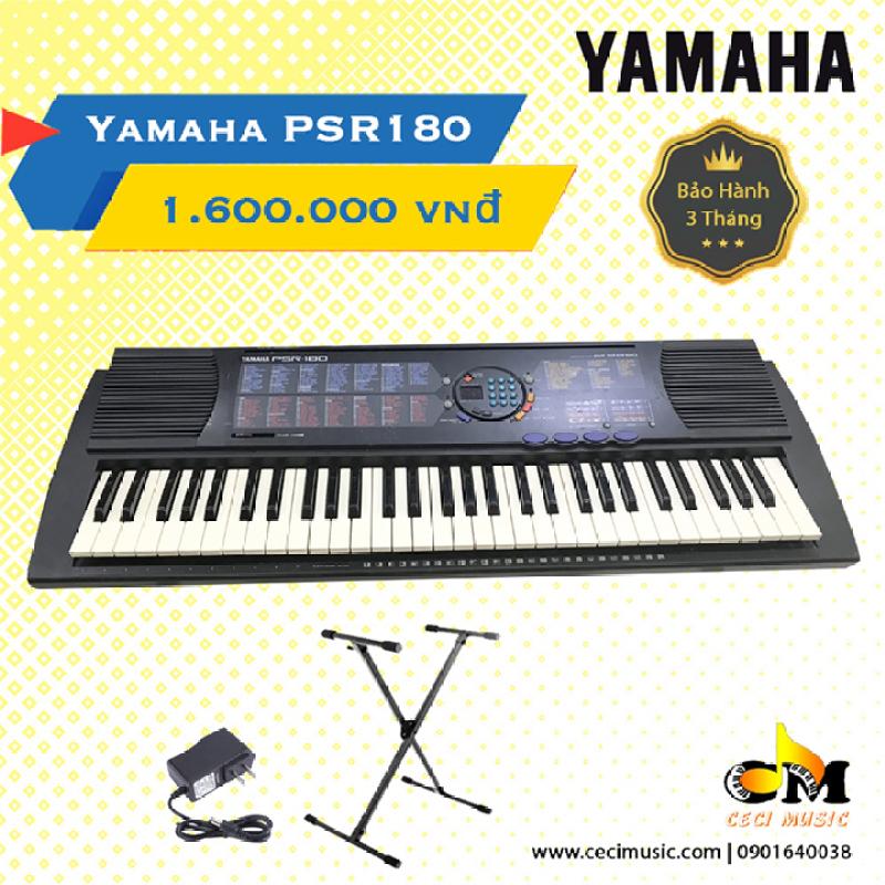 Đàn Organ YamahaPSR180 Like new 90%. Hàng nội địa Nhật. Bảo hành 3 tháng. Tặng kèm 1 chân đàn trị giá 150,000đ