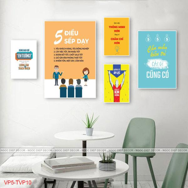 Tranh treo tường slogan trang trí văn phòng tạo động lực cực mạnh  - tranh trang trí sắc nét, sống động - tặng kèm đinh 3 chân không cần khoan tường