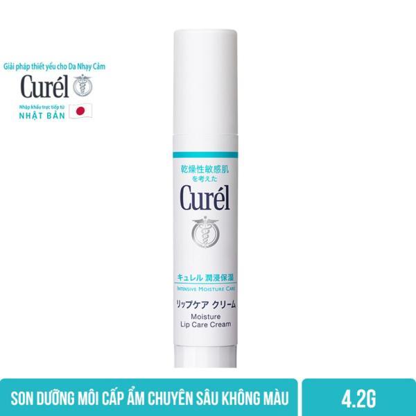 Son Dưỡng Môi Cấp Ẩm Chuyên Sâu Curel Intensive Moisture Care Moisture Lip Care Cream 4.2g Không Màu giá rẻ