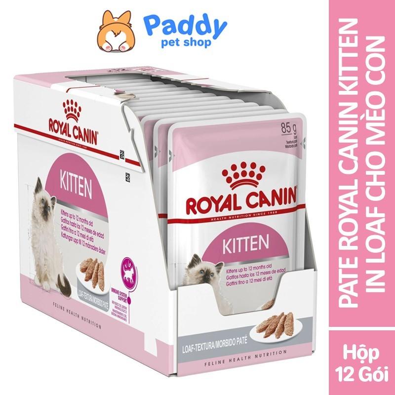 Pate Cho Mèo Con Royal Canin Kitten in Loaf 85g - Hộp 12 Gói