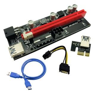 Thẻ đồ họa PCI-E Riser 009S 16X cổng USB 3.0 dành riêng cho bộ điều hợp cáp mở rộng PCIE chất lượng cao 4