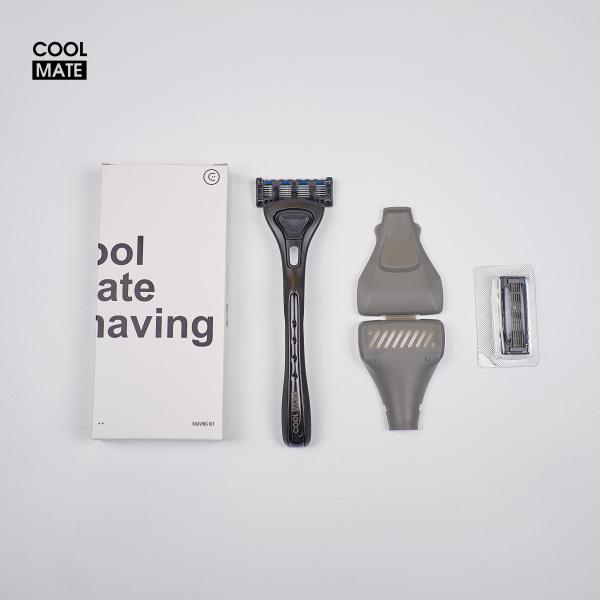 BỘ CẠO RÂU COOL SHAVING KIT (1 TAY CẦM, 2 LƯỠI, 1 VỎ ĐỰNG) giá rẻ