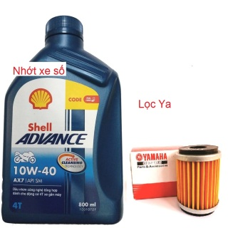 [DauNhot-Lọc Ya] Dầu nhớt động cơ xe máy shell AX7 10W40, nhớt shell AX7 10W40 dùng cho xe số nhiều dung tích. mua cùng lọc Yamaha để được giá tốt thumbnail