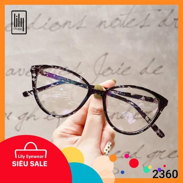 Mua Kính thời trang mắt mèo Lilyeyewear 2360 chất liệu nhựa dẻo tính bền dẻo cao phù hợp với nhiều khuôn mặt thiết kế mắt mèo thời trang nhiều màu đặc biệt mắt kính lọc ánh sáng xanh  có thể cắt cận một size
